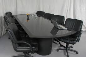Office Conference Room Chairs Simple Modern Black Leather Seat Feat High Backrest For Conference
