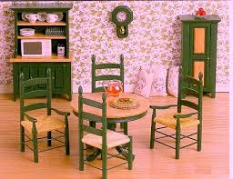 miniature dollhouse kitchen furniture farmhouse country kitchen from fingertip fantasies dollhouse