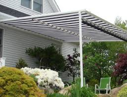 Pergola With Awning by Retractable Pergola Cover Pergola And Sun Cover Northern Nj