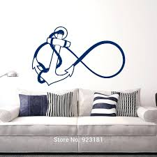 themed bathroom wall decor bathroom wall decals nautical bathroom anchor infinity font