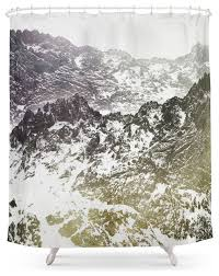 society6 snow mountain shower curtain contemporary shower