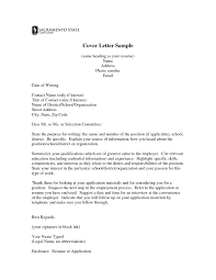 Resume Samples Retail Management by Typical Cover Letter Format Cover Letter Example