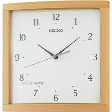 seiko clocks wooden wall clock qxa675b watch shop com