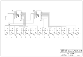 step sequencer drum machine ece 4760 cornell