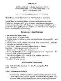 Photography Assistant Resume Film Production Resume Lukex Co