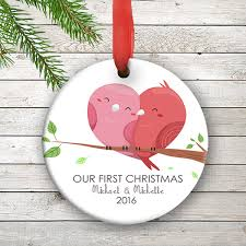 birds personalized our ornament wedding couples