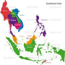 Asia Map With Capitals by Map Of Southeast Asia With Capitals Partywithorangecounty