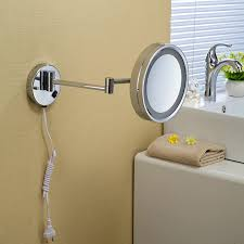 round makeup mirror with lights bath mirrors 8 wall mounted round one side bathroom mirror led