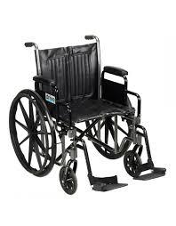 Drive Wheel Chair Drive Medical Blue Streak Wheelchair With Flip Back Detachable