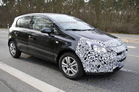 opel corsa interior 2016 spy shots opel and vauxhall preparing corsa for a facelift