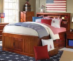 full size captains bed with bookcase headboard bobsrugby com