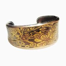 mokume gane buy a crafted mokume gane memorial men s cuff made to order