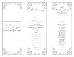 tri fold program best free tri fold wedding program templates printable s