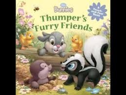 disney bunnies thumpers furry friends touch feel book
