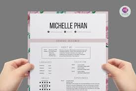 1 Page Resume Templates Floral 1 Page Resume Template Resume Templates Creative Market