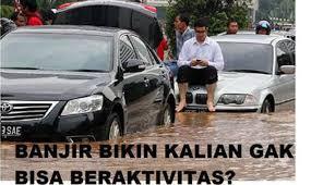 Meme Mobil - beragam meme lucu seputar banjir jakarta viva