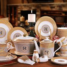 porcelain dinnerware set bone china h mosaic design outline