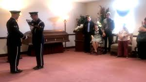 Military Funeral Flag Presentation Presentation Of Flag To Our Mother Youtube