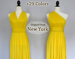 Canary Yellow Dresses For Weddings Yellow Bridesmaid Dress Etsy