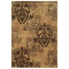 linon home decor rugs linon home decor milan collection brown and turquoise 8 ft x 10 ft