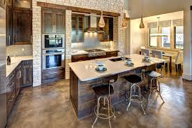 light stained concrete floors stained concrete floors kitchen traditional with cabinets barstools