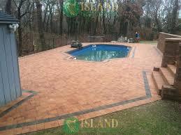 large patio pavers patio pool pavers gallery island paving and masonry