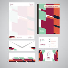 corporate identity design abstract corporate identity design vector free