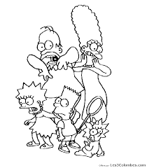 dessin famille simpsons 43 coloriage en ligne gratuit pour
