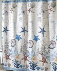 ocean themed fabric shower curtain shower curtain