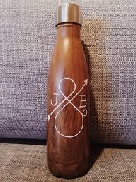 personalized love ampersand swell bottle teakwood wedding