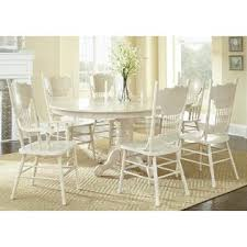 esofastore formal white wash antique 7pc dining set dining table