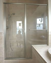 Shower Doors Basco Bathroom Astounding Semi Frameless Shower Door Ideas Some