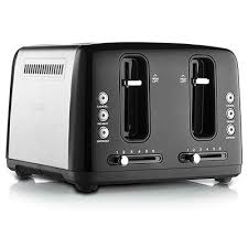Motorised Toaster Sunbeam Simply Stylish 4 Slice Toaster Black Jb Hi Fi