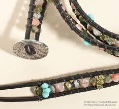 weave wrap bracelet images Leather wrap bracelet pattern with czech glass beads jpg