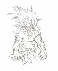 silent rage of son goku by chimeraman on deviantart