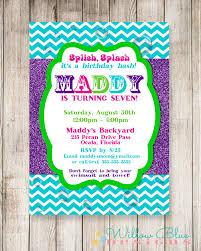 splish splash bash invitation splish splash birthday pool