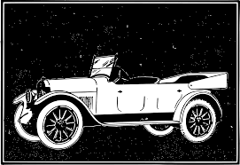 old cars black and white clipart inverted old car