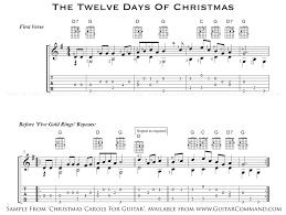 carols guitar solo guitar arrangements with tab u0026 chords