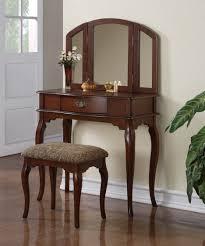 Mirrored Vanity Bench Bedroom Contemporary Bedoom Furniture Of Dark Brown Wooden