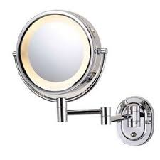 wall mounted magnifying mirror with light illuminated magnifying mirror bathroom pinterest