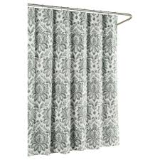 White Cotton Duck Shower Curtain by Gray Shower Curtains Shower Accessories The Home Depot