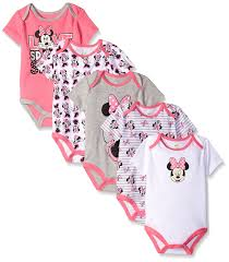 Minnie Mouse Clothes For Toddlers Disney Baby Girls U0027 Minnie Mouse 5 Pack Bodysuits You Can Get