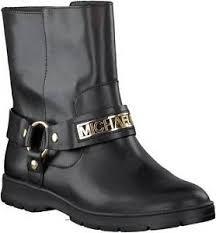 motorcycle booties nwb michael kors essex moto booties black leather ankle boots mk