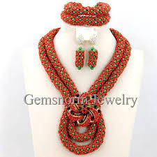 aliexpress bead necklace images Fantastic african beads jewelry set handmade crystal bridal jpg