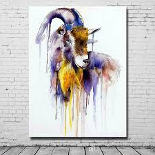 Goat Home Decor 2018 Modern Abstract Acrylic Paintings Living Room Wall Decor Goat