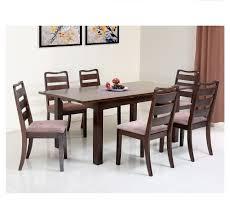 buy omaha 6 seater dining set home by nilkamal walnut online