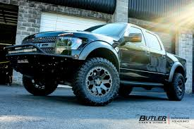 Ford Raptor Truck Wheels - ford raptor with 20in black rhino warlord wheels butler tire