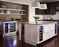 kitchen island with refrigerator undercounter refrigerators the must in modern kitchens