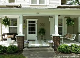 exterior marvelous front porch decoration using grey concrete