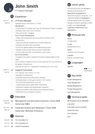 Resume Templats 20 Resume Templates Create Your Resume In 5 Minutes